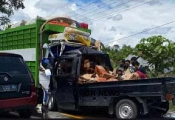 Kecelakaan Maut Dekat SPBU Baloli Baebunta, Sopir Pick up Meninggal Ditempat