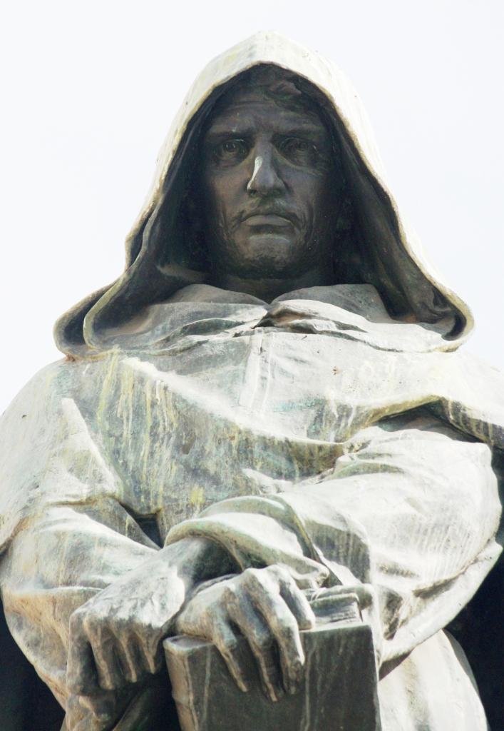 Monumento a Giordano Bruno, plaza Campo de' Fiori, Roma (archivo del autor)