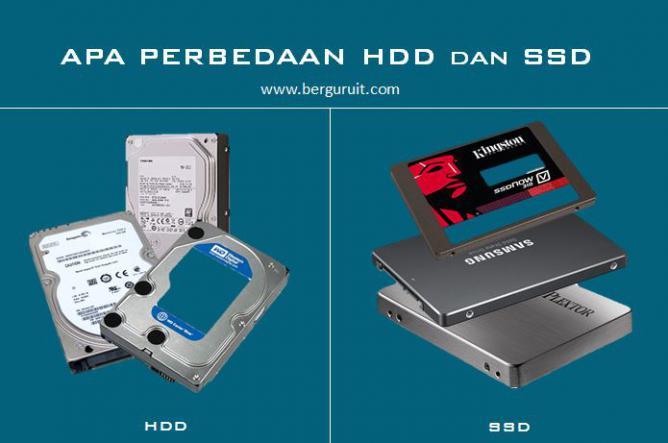 Apa perbedaan HDD dan SSD, Hard disk drive dan Solid State Drive, Pengertian HDD dan SSD