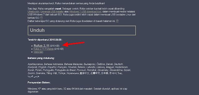 Membuat Bootable Windows di USB Flashdisk Menggunakan Rufus