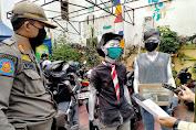 Dua Manusia Silver Terjaring Operasi Yustisi Tertib Masker Di Duri Utara