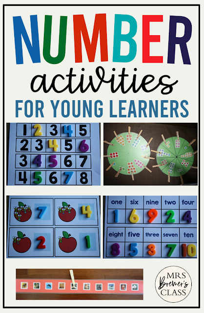 Number and Counting Math Activities for Kindergarten math centers