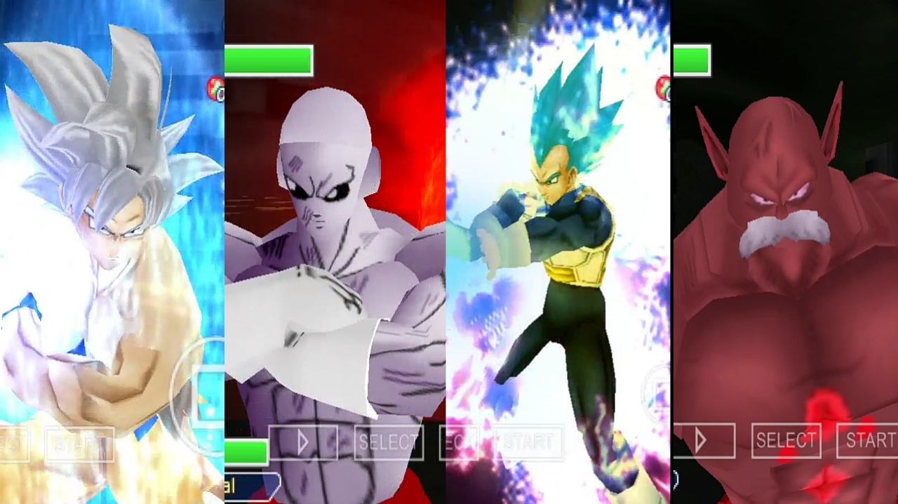Goku and Vegeta, Jiren and Toppo