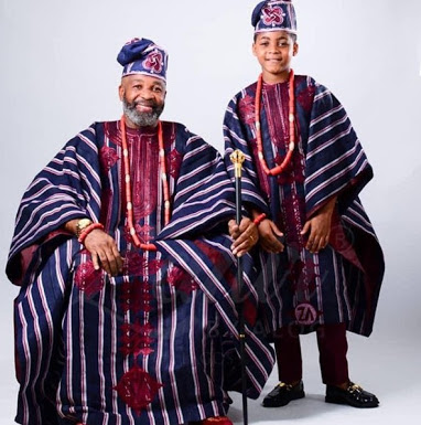 Popular Actor Yemi Solade & His Cute Son In Matching Outfits