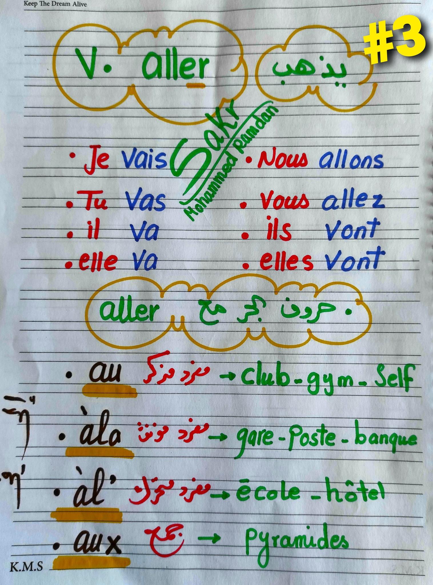 مراجعة شاملة لغة فرنسية للصف الاول الثانوي ترم ثاني.. أهم الكلمات والقواعد و 200 سؤال مجاب  2
