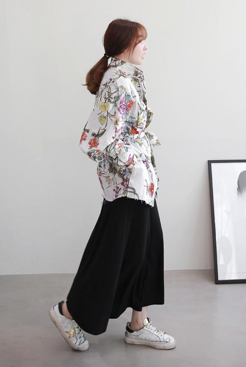 Tie-Waist Floral Jacket