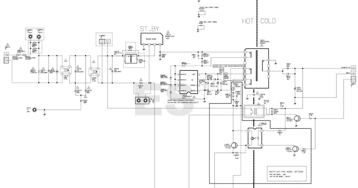 Firmware Download: SAMSUNG BN4400622B Power supply board schematic diagram  Viper12a  STR