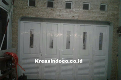 Pintu Garasi Besi Pesanan Bu Rini Perumahan Indraprasta Bogor