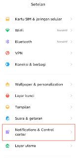 Cara Mengaktifkan Pusat Kontrol di Xiaomi MIUI 12