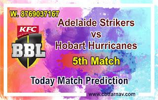 BBL T20 ADS vs HBH 5th Today Match Prediction |100% Sure Winner