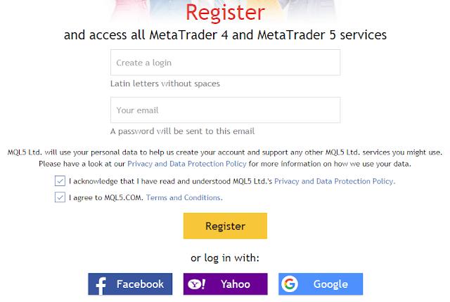 Cara mendaftar MQL5