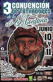 POSTER 3ra Convencion De Tatuadores De la Montaña 2018