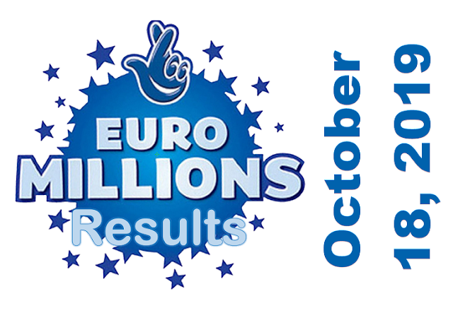 EuroMillions Results for Friday, October 18, 2019