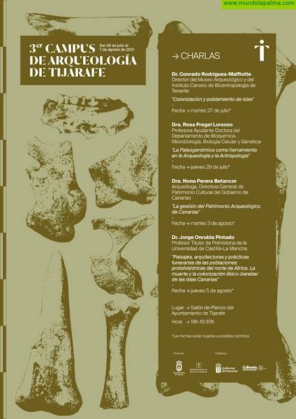 El Campus de Arqueología de Tijarafe suspende su actividad presencial y mantiene su ciclo de conferencias