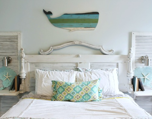 Nautical Beach Art above Bed