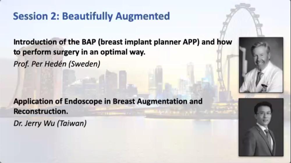 吳至偉醫師於新加坡整形外科醫學會第二個演講主題