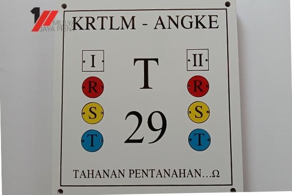 Plang Number Plate PLN