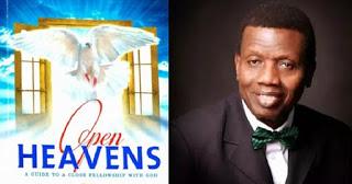 Open Heavens Daily Devotional