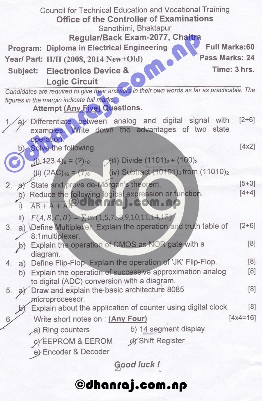Electronics-Device-and-Logic-Circuits-Question-Paper-2077-CTEVT-Diploma-2nd-Year-2nd-Part