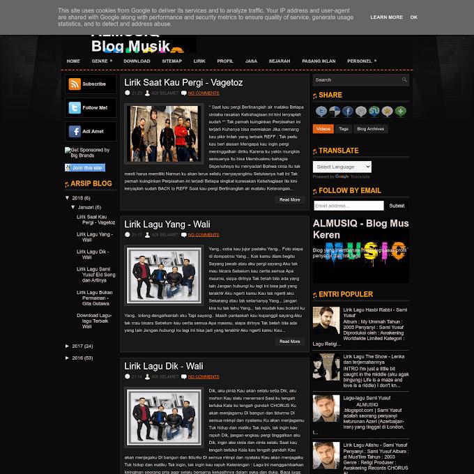 Blog Almusiq Dijual Rp. 25 Ribu, Minat?