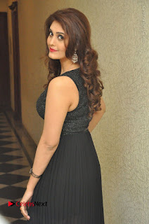 Actress Surabhi Stills in Black Long Dress at turodu Audio Launch  0005.JPG
