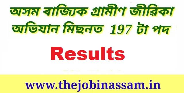 ASRLM Society, Assam Resuts 2019