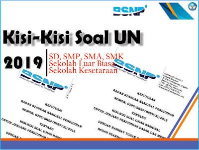 direncanakan akan bergulir mulai bulan Maret  Kisi-Kisi Soal UN 2019 Tingkat SMP, SMA, SMK Lengkap BSNP