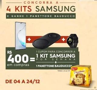 Promoção Natal 2019 Shopping Metrô Santa Cruz Ganhe Panetone e Concorra Kits Samsung