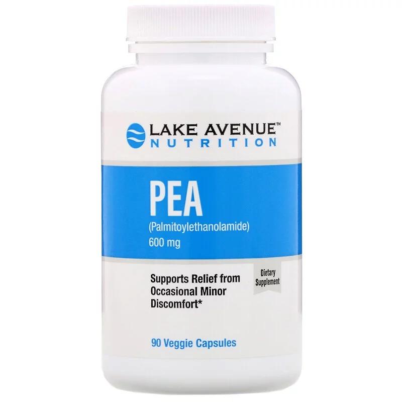 Lake Avenue Nutrition, PEA (Palmitoylethanolamide), 600 mg, 90 Veggie Capsules