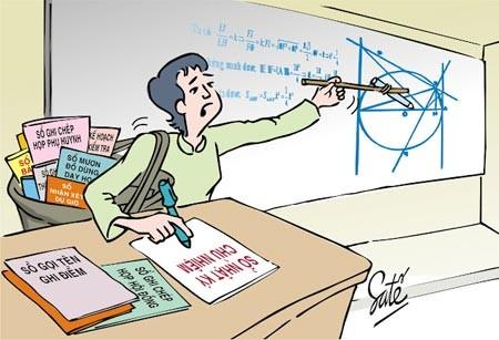 Khổ cực của người nhà giáo