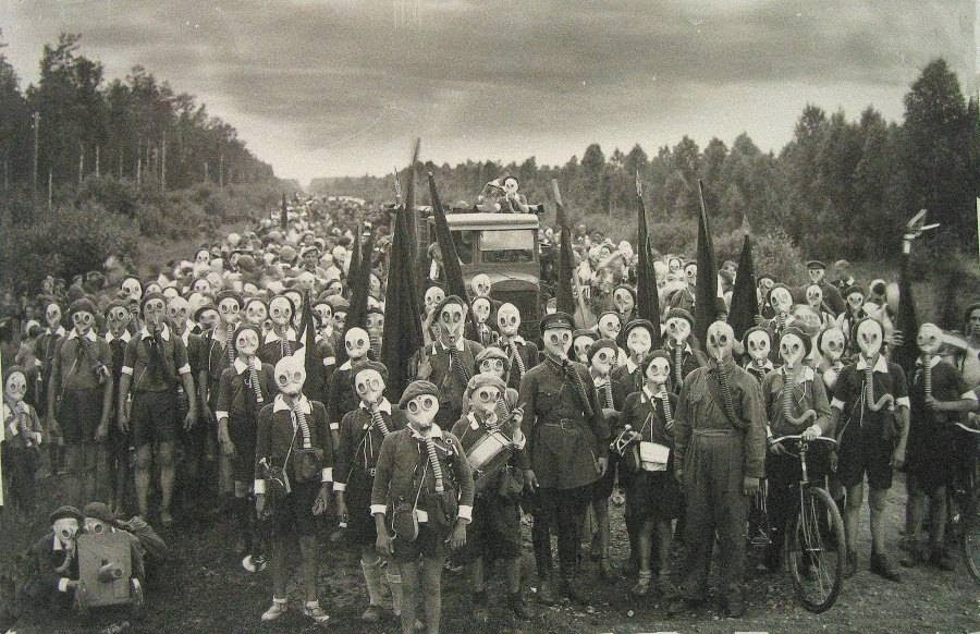 Mask wearing people of Miyakejima Izu Island Japan