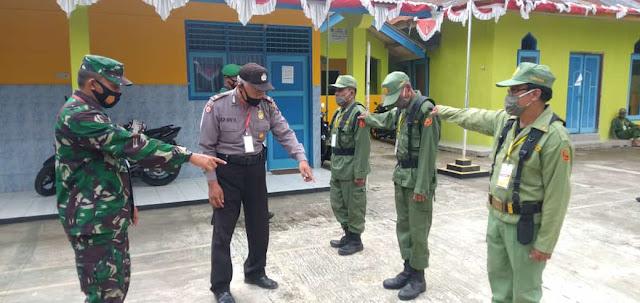 TNI-Polri di Bobotsari Bersinergi Berikan Pelatihan Anggota Linmas