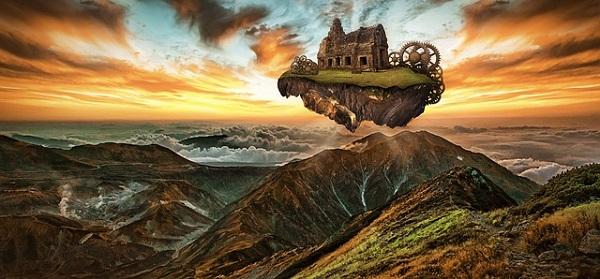 imagem representando um mundo de fantasia
