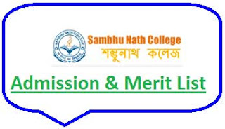 Sambhunath College Merit List