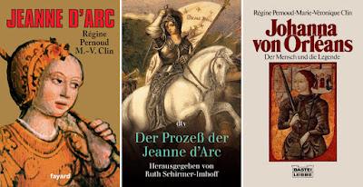 Quelques livres sur Jeanne d'Arc (Régine Pernoud)