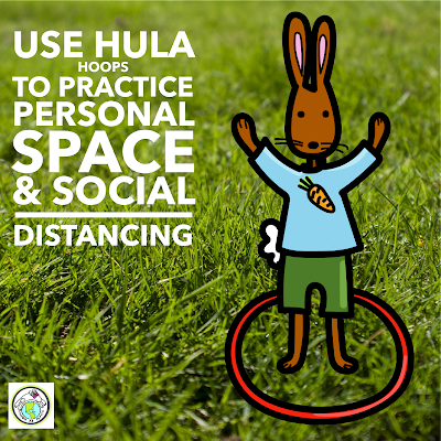 Use Hula Hoops to practice Social distancing