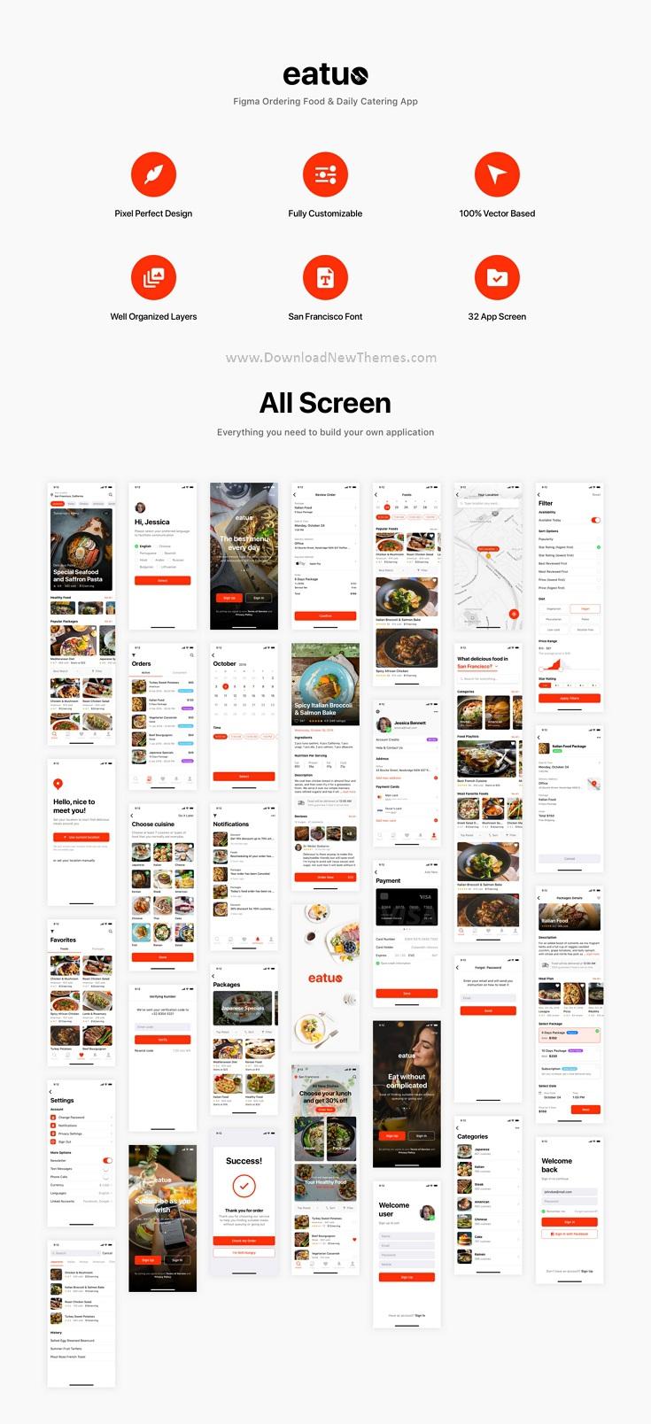 Ordering Food & Daily Catering App UI Kit