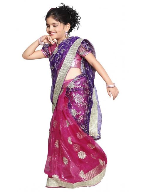 baju sari india anak2