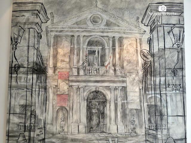 Close-up do Quadro Museu da Casa Brasileira - Museu da Casa Brasileira - Jardim Paulistano - São Paulo