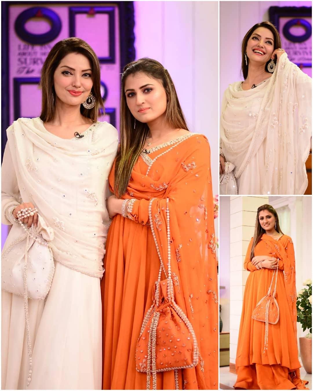 Natasha Hussain with her daughter Tanya Hussain