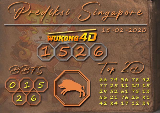 Prediksi Togel SINGAPORE WUKONG4D 15 FEBRUARI 2020