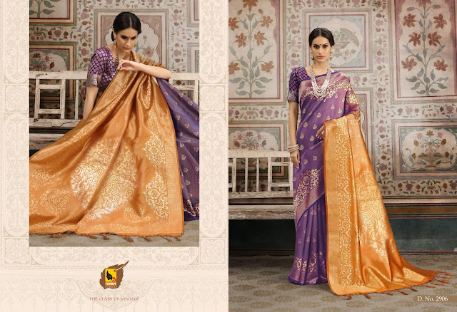 Silk Zari Embroidered Wedding Party Sarees