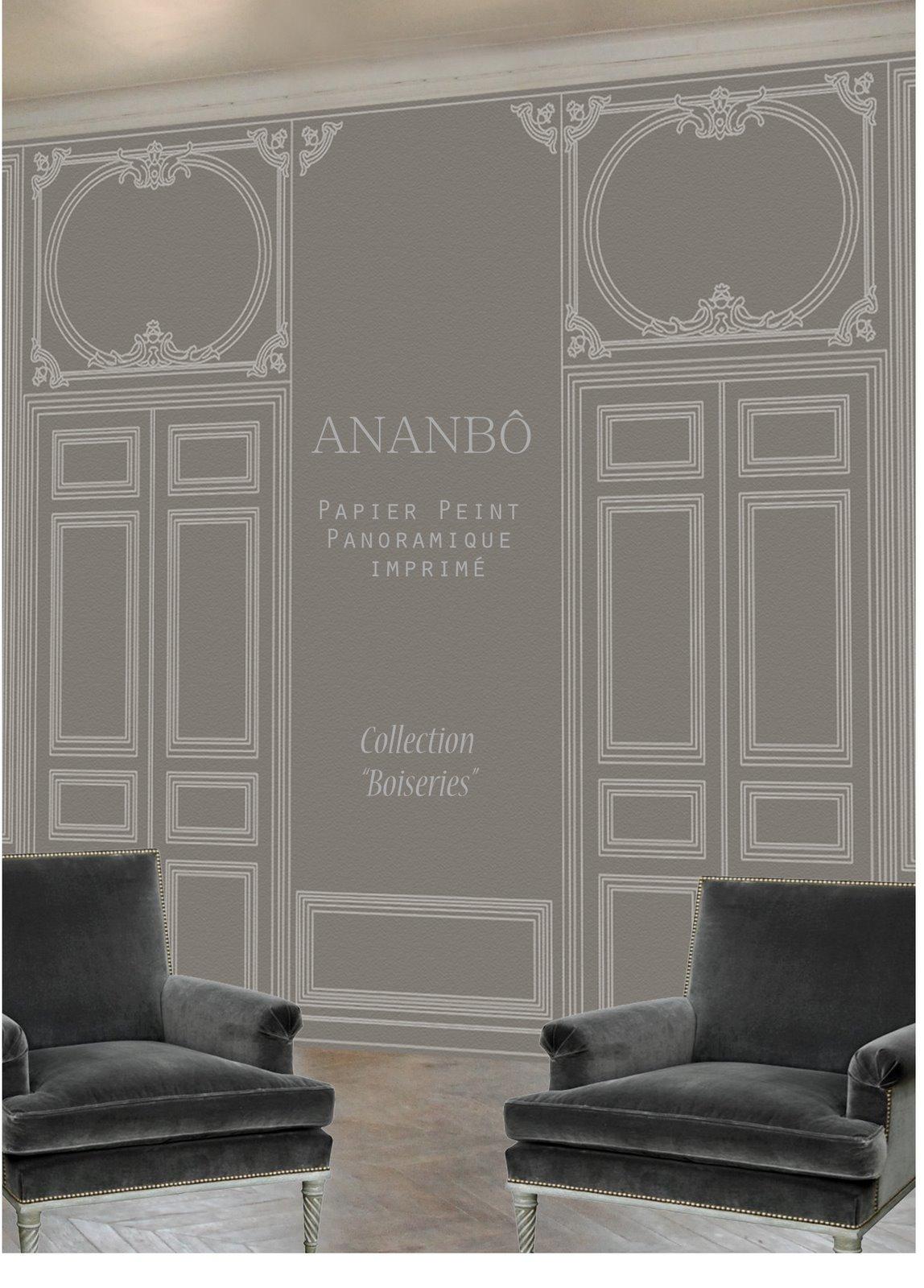 ananb papier peint panoramique imprim la collection boiseries sera en vente au mois de. Black Bedroom Furniture Sets. Home Design Ideas