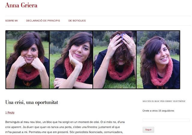 """Anna Griera   """"Una crisi, una oportunitat"""" i el meu humil petit consell ;))"""