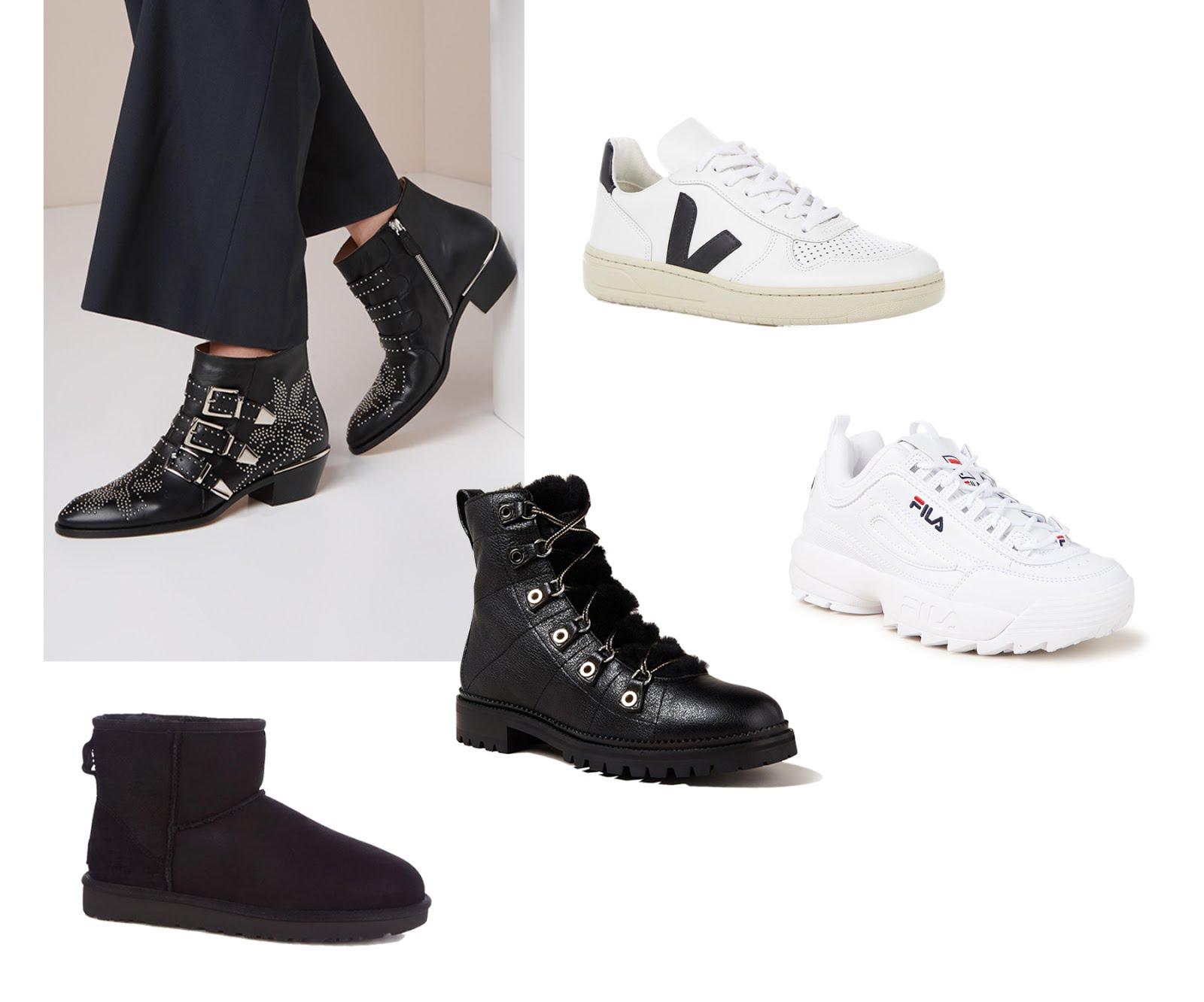 Chloe susanna boots, western boots, biker boots, winter boots, veja sneakers, sustainable, bijenkorf, fila disruptor, ugg mini, hiker boots, inpiration, 2018,