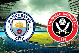 مباراة مانشيستر سيتي وشيفيلد يونايتد الجولة السابعة من الدوري الإنجليزي الممتاز 2020