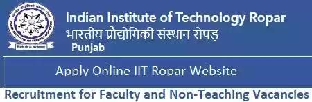 IIT Ropar Faculty Non-Teaching Vacancy Recruitment 2021