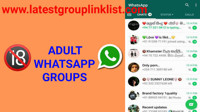 Join 15000+ Adult Whatsapp Group Link List 2020