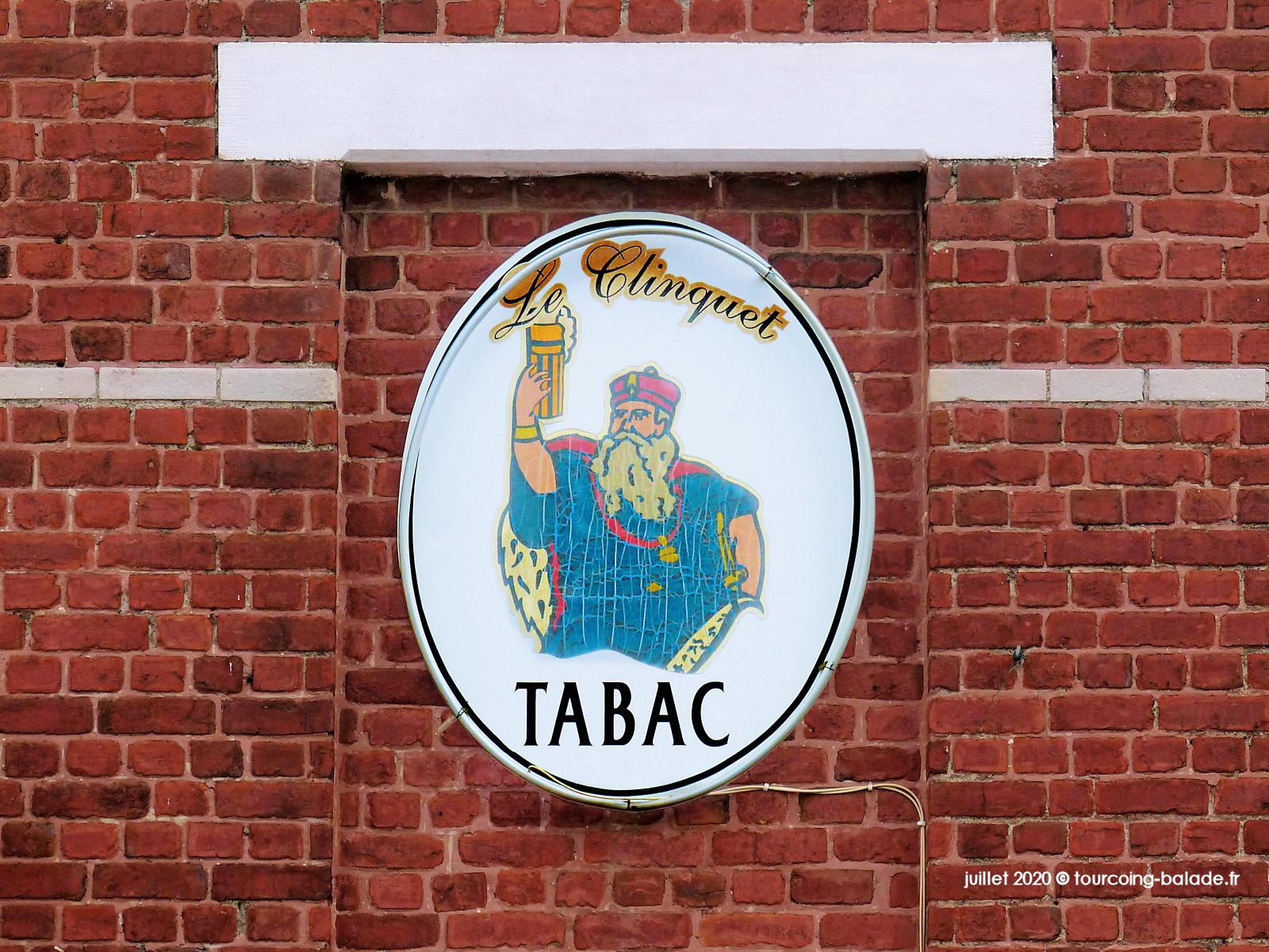 Enseigne du Bistrot Tabac Le Clinquet, Tourcoing 2020
