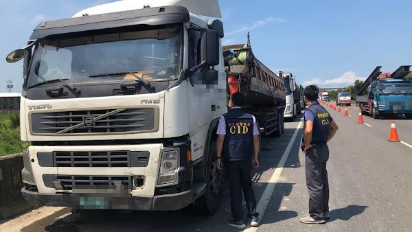 鹿港警分局取締砂石車違規超載 業者吞下幾十萬元罰單